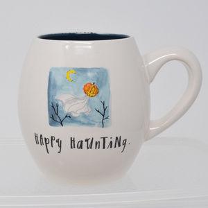 Rae Dunn Happy Haunting Pumpkin Ghost Mug New Cup